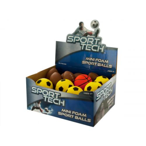 Mini Foam Sport Balls Countertop Display
