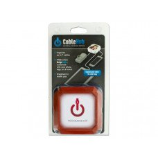 Square Red CableHub Customizable Universal Charging Station