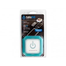 Square Blue Glow CableHub Customizable Universal Charging Station