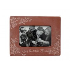 Our Favorite Blessings Decorative Clay Photo Frame