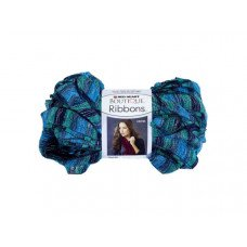 Metallic Blue & Teal Laguna Ribbons Yarn