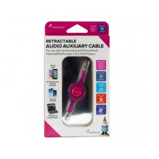 Travelocity Pink Retractable Audio Auxiliary Cable