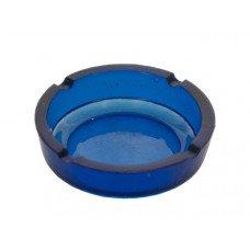 Blue Round Glass Ashtray