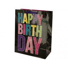 Black Birthday Gift Bag