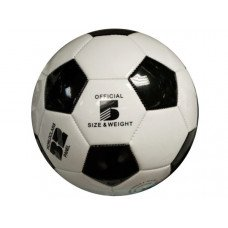 Size 5 Black & White Glossy Soccer Ball