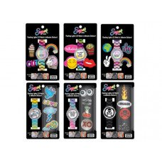 Sugar Flashing Lights LCD Watch & Adhesive Stickers Set