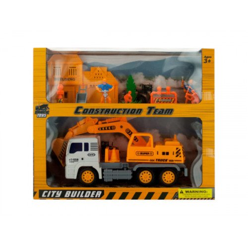 Friction Powered Loader Truck & Construction Team Set