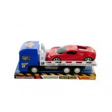Friction Trailer Truck with Race Car Set