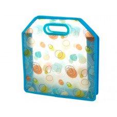 Blue Retro Print Tote Bag