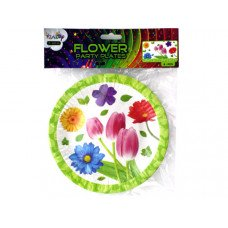 "7"" Floral Party Paper Plates"
