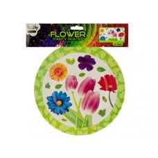 "9"" Floral Party Paper Plates"