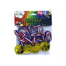 Plastic Medal Ribbon Party Favor Pack