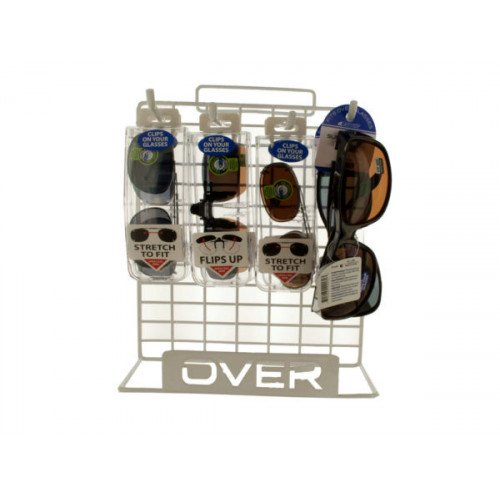 Clip-On Glasses and Eyewear in Display Rack 8 pc