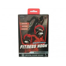 iHip Red Fitness Hook Wireless Bluetooth Earbuds
