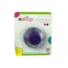 Dallies Mini Size Bright Pink and Purple Baking Cups