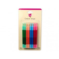 Cake Mate Ombre Stripe Birthday Candles