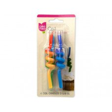 Cake Mate Coil Birthday Candles 4 Pack