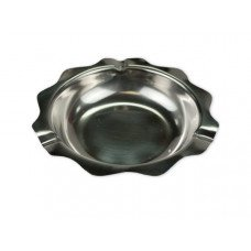 Stainless Steel Scalloped Ashtray