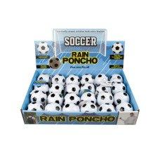 Soccer Ball Keychain Rain Poncho in Countertop Display