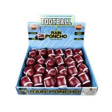 Football Rain Poncho in Counterop Display