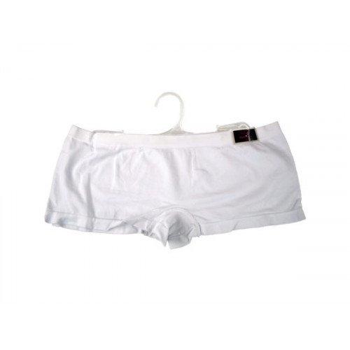 White Seamless Underwear Boy Cut Shorts Large