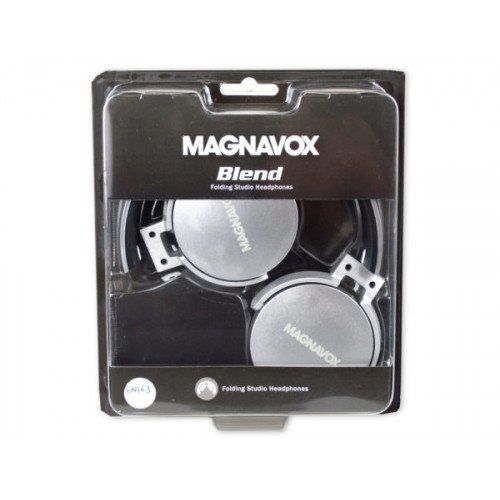MAGNAVOX Space Gray Blend Folding Studio Headphones
