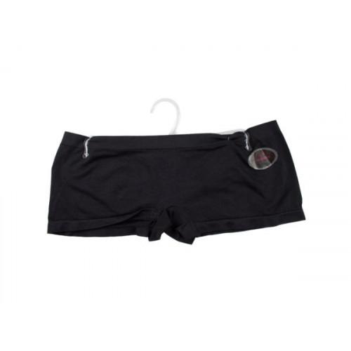 Black Seamless Underwear Boy Cut Shorts Medium