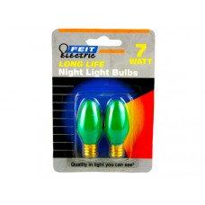 2 Pack 7 Watt Long Life Night Light Bulbs
