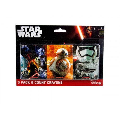 Star Wars 3 Pack 8 Count Crayons