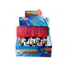 Assorted Color Telescoping Fly Swatter in Countertop Display