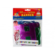 "60"" Happy Birthday Letter Banner"