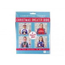 Plastic Christmas Sweater Bibs