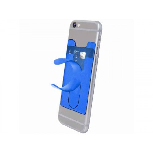 Wallet Gripz Phone Wallet and Holder in Blue