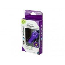 Travelocity Purple Light Up USB Car Charger