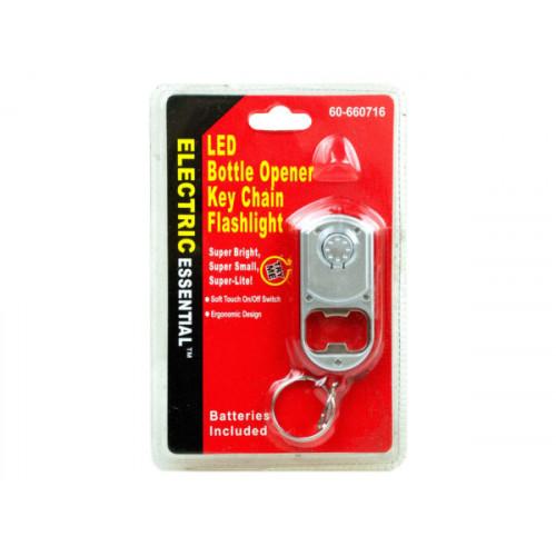 Bottle Opener Key Chain with LED Flashlight