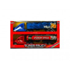 2 Pack Friction Container Toy Trucks
