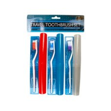 6 Piece Travel Toothbrush Set with Cases