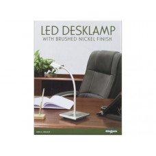 40 Watt LED Desklamp with Brushed Nickel Finish