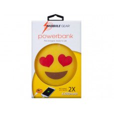 4000 Mah Heart Eyes Emoticon Powerbank with Charging Cable