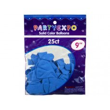 25 Count 9 Inch Balloons in Light Blue