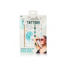 Metallic Tattoos in Turquoise And Silver