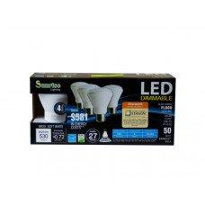 4 Pack 6 Watt LED Dimmable Soft White Flood Lights