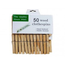 50 Count Waxed Hardwood Clothespins