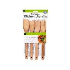 4 piece bamboo tools