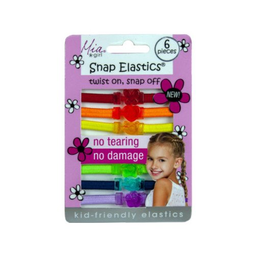 Snap Elastics Rainbow Hair Ties 6pk