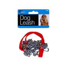 Dog Leash with Faux Leather Handle
