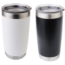 Stainless Steel Tumbler for Hot or Cold Drinks - Up to 18 Hours - Holds Up to 20 oz. - Vacuum Seal Insulated Double Wall Construction - Matte Finish - Engraving Available - 5 Colors Available