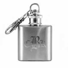 Custom Monogram 1oz Mini Key Chain Flask