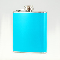 6oz Baby Blue Hip Flask