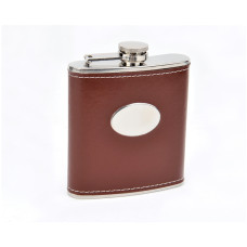 Faux Leather Hip Flask, Personalized